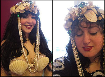 Lorelei Vanora + Carolyn Turgeon wearing Lorelei Vanora's mermaid crown